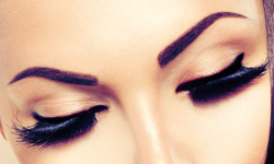 eye brows and lashes